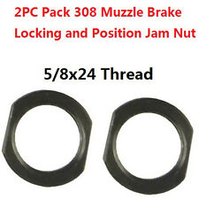 2PC Muzzle Brake Lock/Jam Nut 5/8x24, Designed for Repeated Use Armorer's Wrench