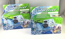 Fujifilm Disposable QuickSnap Waterproof Pool Underwater 35mm Camera Lot of 2