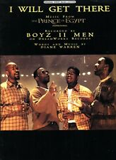 BOYZ II MEN I WILL GET THERE SHEET MUSIC THE PRINCE OF EGYPT PIANO/VOCAL/GUITAR