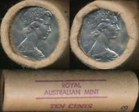 Australia, RAM Mint Roll of 40 1981 Ten Cent Coins - Unc-Gem Unc