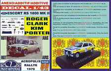 ANEXO DECAL 1/43 FORD ESCORT RS 1800 MK II ROTHMANS R.CLARK ACROPOLIS 1979 (04)