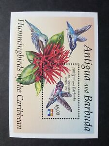 Antigua: Bee Hummingbird unmounted mint (MNH) miniature sheet from 1992 set