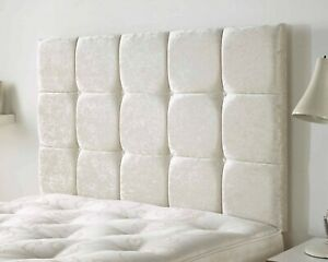 Linen Fabric Headboard High Quality Upholstered 15 Cube Buttoned Bed Head