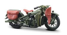 Harley-Davidson 1942 Wla Plano Delantera Oliva Escala 1:18 Von Maisto