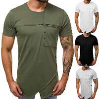 Herren Kurzarmshirt Sommer Freizeit T-Shirt Top Slim Casual Basic Tee Oberteil