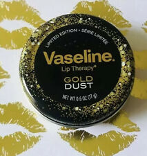 Limited Edition Vaseline Lip Therapy Gold Dust Lip Balm .6oz Tin FREE GWP🎁