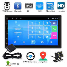 AUTORADIO QUAD CORE ANDROID 8.0 WIFI BLUETOOTH 7'' 2 DIN STEREO + Retrocamera