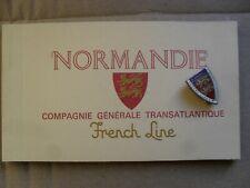 Compagnie Générale Transatlantique French Line paquebot NORMANDIE