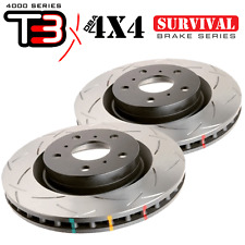 DBA 4x4 Survival T3 slotted REAR rotors (PAIR) for 07-15 Land Cruiser 42723S
