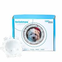 Twistmas Lights Personalized Photo Snowflake Light Up Ornament