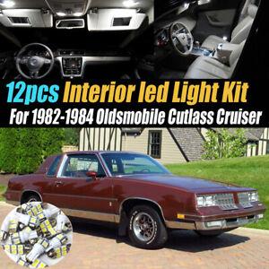 12Pc White Car Interior LED Light Kit for 1982-84 Oldsmobile Cutlass Cruiser