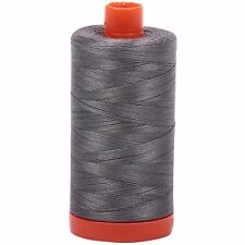 Aurifil Thread #5004 Grey Smoke Cotton Mako 50 wt 1422 yard spool