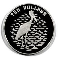 Australia Jabiru Stork 10 Dollars 1991  Proof Silver Crown KM156