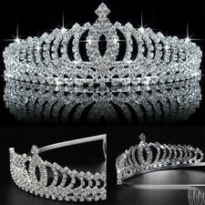 Wedding Bridal Princess Crystal Rhinestone Hair Accessory Tiara Crown Ladys Gift
