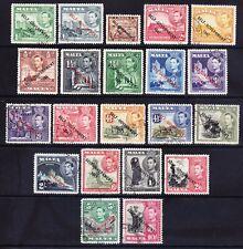 MALTA 1948/53 GVI SG234/48 set of 21 opt SELF GOVERNMENT superb used. Cat £35