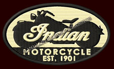 """INDIAN MOTORCYCLE EMBROIDERED PATCH EST.1901 ~4-3/4""""x 2-3/4"""" CHIEF SCOUT V2 FOUR"""