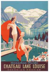 Chateau Lake Louise – Canadian Pacific Railway – 1938 Advertising Poster