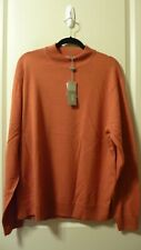 NWT Raffi Linea Uomo Merino Wool Sweater Pullover XL Made in Australia Orange