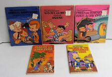 5 Hanna-Barbera the Flintstones Childrens Books Pebbles Bamm-Bamm Fred Barney