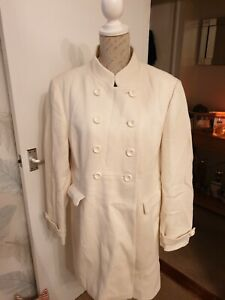 JASPER CONRAN  MILITARY TYPE Cream Coat Size 18