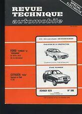 (33A) REVUE TECHNIQUE AUTOMOBILE CITROEN VISA 4CV / FORD CONSUL GRANADA
