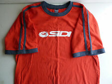 Sidi ringer t shirt with striped sleeve, red, size small, Sidi boots, shoes logo