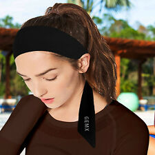 Wide Plain Stretchy Fabric Headband Gemx Ladies/Men Hairband Sports Alice Band