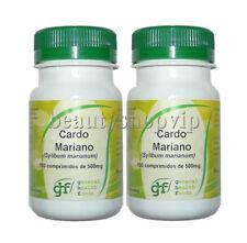 CARDO MARIANO 2 x 100 Comp 500 mg Protege el Higado Depurativo Milk Thistle