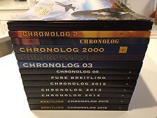Collection of fourteen Rare Breitling Consumer Catalogs 1997-2016