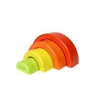NEW Masterkidz Wooden Rainbow Puzzle Blocks Toddler Kids Toys