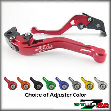 Strada 7 CNC Shorty Adjustable Levers Kawasaki ZX9 1994 - 1997 Red
