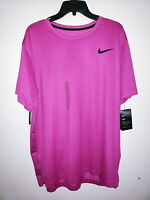 Mens Nike Pro Dri-Fit Short Sleeve Pink/Black T-Shirt New NWT Standard Fit
