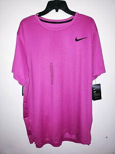 Mens Nike Pro Dri-Fit Short Sleeve Pink/Black T-Shirt New NWT Standard Fit