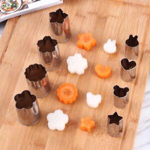 8pcs Mini Stainless Steel Fruit Vegetable Cookie Shape Cutters Kid Food Mold Set