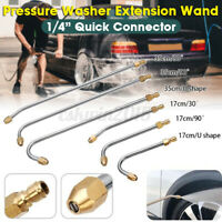 """1/4"""" Quick Connect Pressure Washer Wand Extension Nozzle Replacement Lance Kit"""