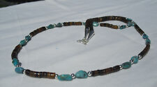 Penshell Heishi Pebble Turquoise Sterling Silver Bead Necklace from NM