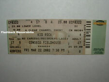 KID ROCK / TENACIOUS D Concert Ticket INDIANAPOLIS 2002 Conseco Fieldhouse RARE