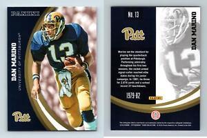 Dan Marino #13 Pittsburgh Panthers Collegiate 2016 Panini Trading Card
