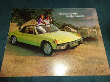 1973 PORSCHE 914 SALES BROCHURE / GOOD ORIGINAL DEALERSHIP FOLDER
