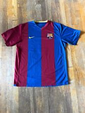 Nike Total 90 FC Barcelona Ronaldinho Soccer Jersey Sz L