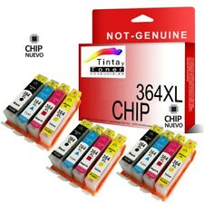 12x 364xl Cartucho de tinta con Chip para HP Deskjet 3070A 3520 non oem 364 xl