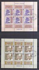 Gibraltar 1998 gestempelt Kleinbogen Satz MNr. 843-846  Persönlichkeiten