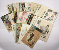 Antique Early 1900's Greeting Postcards Many Embossed Lot of 30 +