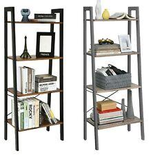 4-Tier Ladder Bookcase Storage Shelf Unit display shelf Living Room Industrial