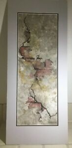 "Val Persoon - Signed Abstract Modern Watercolor Landscape. ""The Old Wall"""