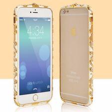 LUSSO Strass Cristalli Diamante Gioiello Metallo Paraurti Cornice Per iPhone 6/6s