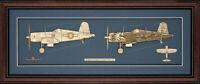 Wood Cutaway Model of 'Ike' Kepford's F4U-1D Corsair - Made in the USA