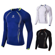 Mens Compression Armour Base Layer Top Long Sleeve Running Gym Sports Shirt