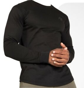 🦍UK 3XL.Genuine Gorilla Wear Williams long sleeved compression T Black New+tags