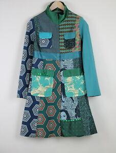 RRP€229 DESIGUAL CHAQ MODENA Women EU 42 / XL Floral Print Patched Coat 20580*